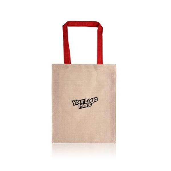 Two Tone Juco Tote Bag Tote Bag / Non-Woven Bag Bags Best Deals Eco Friendly TNW1027_WithLogoRedThumb[1]